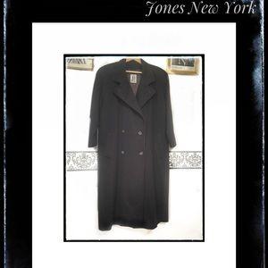 Vintage Jones New York Plum Wool Pea Coat Plus 3X